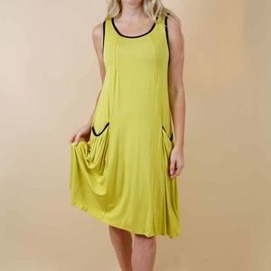 Lightweight Tent Style Dress with Front Pockets
